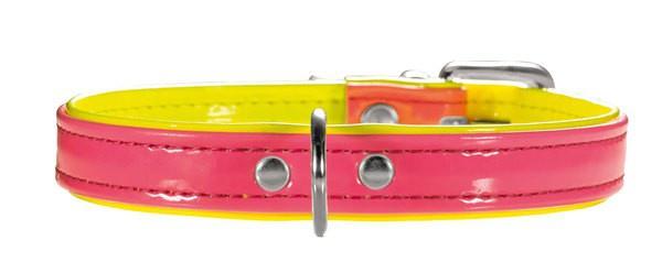 Hunter Halsband Modern Art Neon 37/13 pink/gelb, 28, 0-33, 5 cm