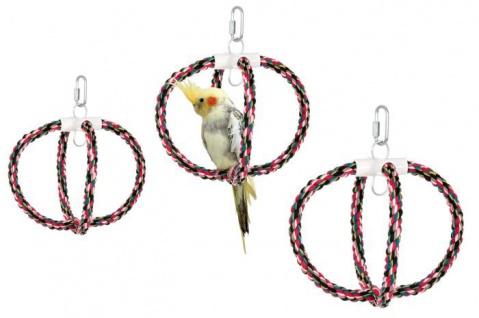 Karlie Baumwollschaukel für Großsittiche, Papageien versch. Größen