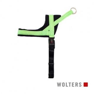 Wolters Geschirr Soft & Safe reflektierend Gr.0 35-45cm lime/schwarz