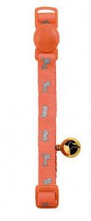 Hunter Katzenhalsband Neon Nylon orange, Sicherheitsverschluss