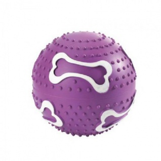 Hunter Hundespielzeug Ball, 10 cm Vollgummi lila