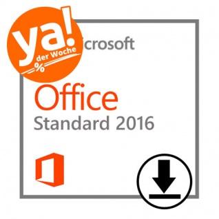 Microsoft Office 2016 Standard- 1PC - 32&64 Bit - Vollversion - Email Express Versand -