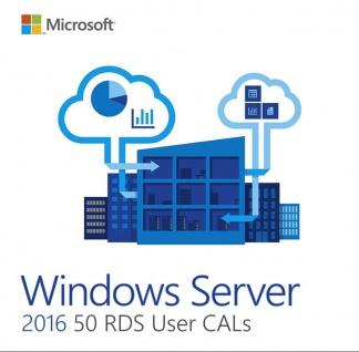 Microsoft Windows Server 2016 - 50 User/Benutzer CAL (RDS)