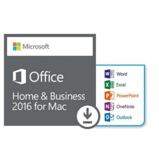 MICROSOFT OFFICE 2016 Home and Business- 1 MAC - Vollversion - Email Express Versand -