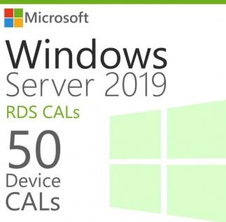 Microsoft Windows Server 2019 - 50 Device/Geräte CAL (RDS)