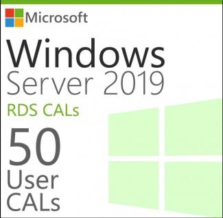 Microsoft Windows Server 2019 - 50 User/Benutzer CAL (RDS)