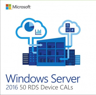 Microsoft Windows Server 2016 - 50 Device/Geräte CAL (RDS) Email Versand Express