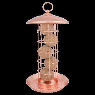 Futterhaus Futtersilo Futterspender Meisenknödel zum Hängen Kupfer Vogelfutter - Vorschau 1