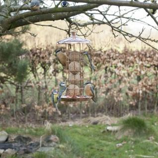 Futterhaus Futtersilo Futterspender Meisenknödel zum Hängen Kupfer Vogelfutter - Vorschau 2