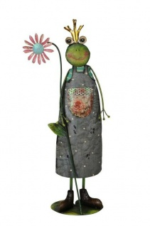 zauberhafter Frosch mit Blüte Dekoration Ostern Frühling Garten Terasse