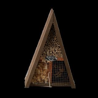 Insektenhotel Dreieck Holz Bienen Schmetterlinge Marienkäfer Florfliegen