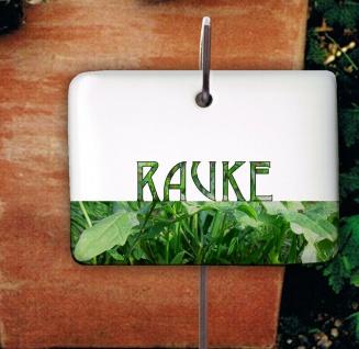 Rauke Kräuterschild Kräuterstecker Porzellan Etikett frostsicher Pflanzschilder