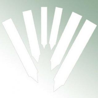 Pflanzschilder Pflanzetiketten Stecketiketten weiß 10x1, 6 cm stabil 0, 6mm stark