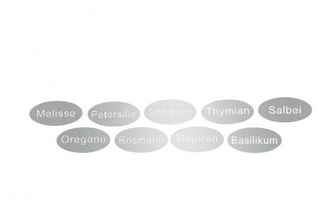hochwertige Kräuterschilder Kräuterstecker Edelstahl 9er Set zum Hängen