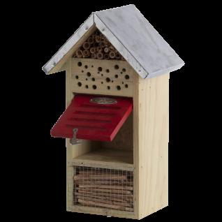 Insektenhotel Größe M Holz Bienen Schmetterlinge Marienkäfer Florfliegen - Vorschau 2