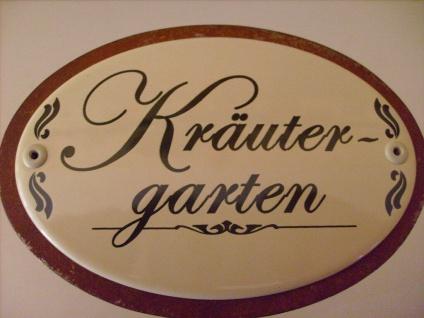Kräuterschild Kräuterstecker Pflanzschild Emaille Metall Rost Kräutergarten 50cm