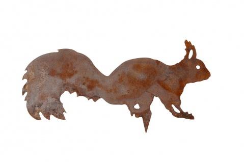 Eichhörnchen zum Stecken Metall rost Dekoration Garten Herbst Winter Balkon