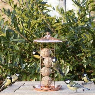 Futterhaus Futtersilo Futterspender Meisenknödel zum Hängen Kupfer Vogelfutter - Vorschau 3