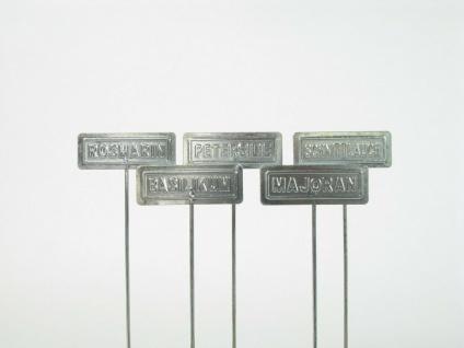 4x Kräuterschilder Blech verzinkt Petersilie Schnittlauch