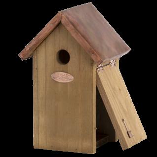 Nistkasten Vogelhaus Holz Winter Kupfer Kohlmeise, Blaumeise, Sperling, Spatz - Vorschau 3