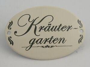 Kräutergarten Gartendekoration Schild zum Hängen 15x10cm Garten