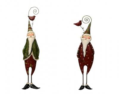 NIKO und LAUS Nikolaus Dekoration Weihnachten Winter rot grau Weihnachtsmann