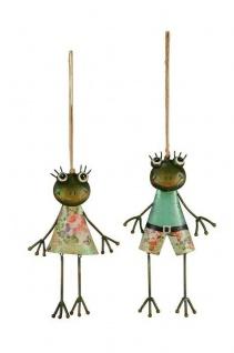 2x zauberhafter Frosch zum Hängen Dekoration Ostern Frühling Froschpaar