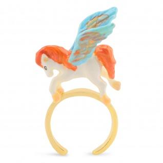 Pferd Pegasus Ring vergoldet
