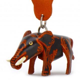Asiatischer Elefanten Schl?sselanh?nger aus Leder
