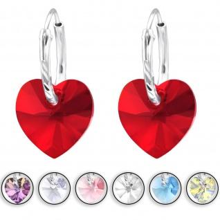 Herz Creolen Ohrringe aus 925 Silber