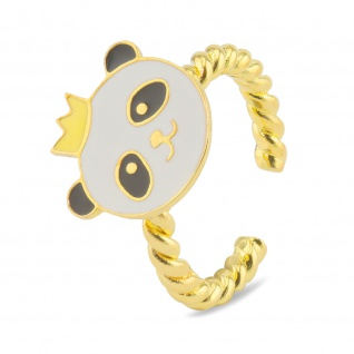 Panda Ring vergoldet