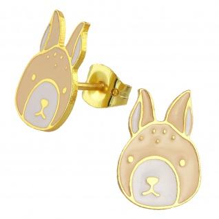 Hasen Ohrringe vergoldet