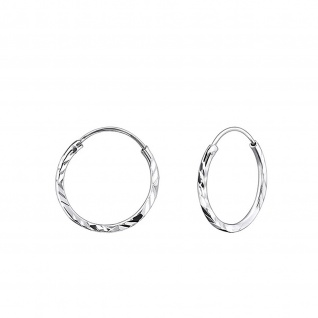 Creolen Kinder-Ohrringe aus 925 Silber