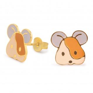 Maus Ohrringe vergoldet