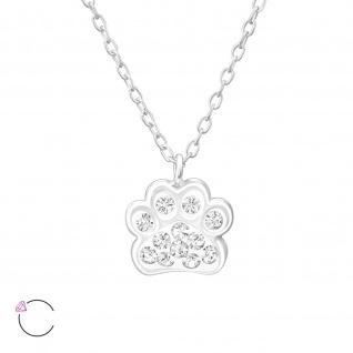 Pfoten Halskette aus 925 Silber