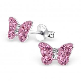 Schmetterling Ohrringe aus 925 Silber - Vorschau 1