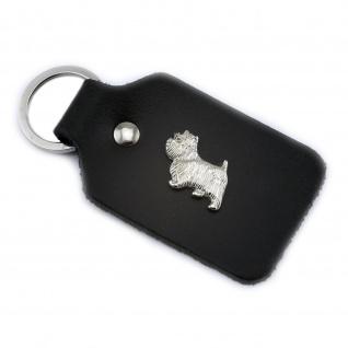 West Highland Terrier Schl?sselanh?nger aus Leder