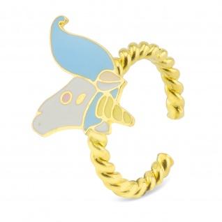 Einhorn Ring 18k Gold plattiert