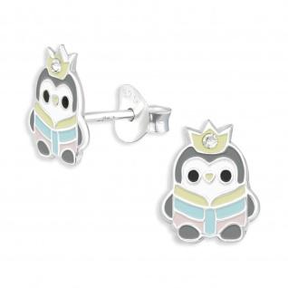 Pinguin Kinder Ohrringe aus 925 Silber
