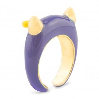 Teufel Ring vergoldet