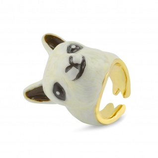 Alpaka Ring vergoldet
