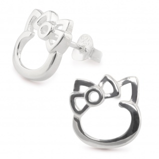 Katzen Ohrringe aus 925 Silber