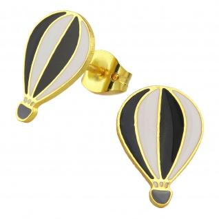 Heissluftballon Ohrringe vergoldet
