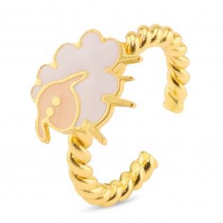Schaf Ring vergoldet