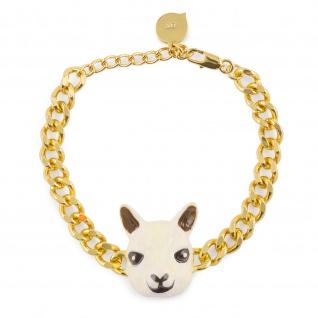 Alpaka Armband vergoldet