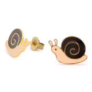 Schnecken Ohrringe vergoldet