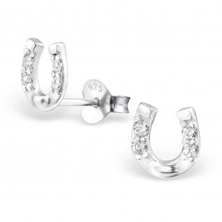 Hufeisen Gl?cksbringer Ohrringe aus 925 Silber