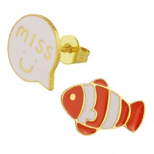 Fisch Ohrringe vergoldet