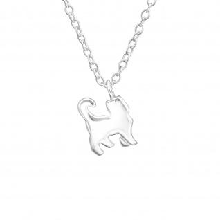Katzen Halskette aus 925 Silber