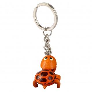 Kleiner Schildkröten Schlüsselanhänger aus Leder